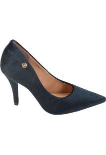 402977f7a9 ... Sapato Feminino Scarpin Veludo Vizzano Azul Marinho