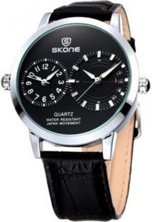 Relógio Skone Analógico 9142 - Preto