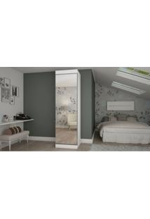 Sapateira Esmeralda 1 Porta Espelho Branco Acetinado Gelius Móveis