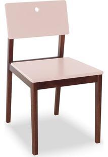 Cadeira Flip I Cacau E Rosa Claro