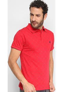 Camisa Polo Up Poás Masculina - Masculino-Vermelho