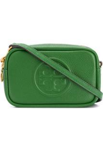 Tory Burch Bolsa Transversal Com Logo Gravado - Verde