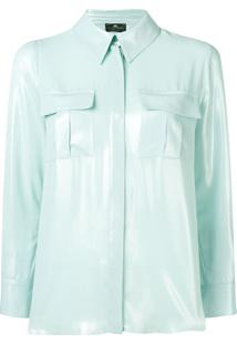 Elisabetta Franchi Loose Fitted Blouse - Azul