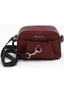 Bolsa Shoulder Bag Couro Burgundy - M