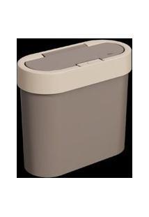 Lixeira Flat Press 2,8L-Warm Gray Light Gray Brinox