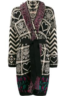 Twin-Set Fringed Knit Cardigan - Neutro