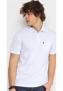 Camisa Polo Em Piquet Ellus Manga Curta Masculina - Masculino-Branco