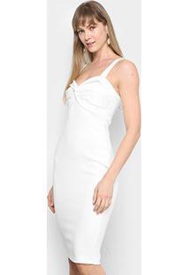 Vestido Mercatto Tubinho Midi - Feminino-Off White