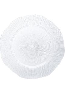Sousplat Infinity- Incolor- Ø33Cm- Lyorlyor