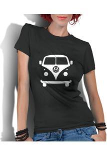 Camiseta Criativa Urbana Kombi Carro Antigo Clássico Preto - Tricae