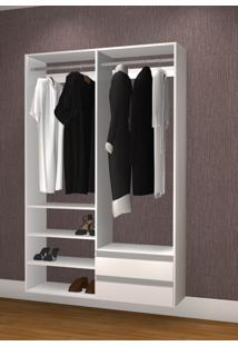 Guarda Roupa Casal Sem Portas Modelo Closet Kt1211 Branco - Getama...