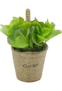 Vaso Com Planta Artificial Bean Leaves Urban Home