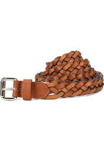 Cinto Couro Shoestock Tressê Feminino - Feminino