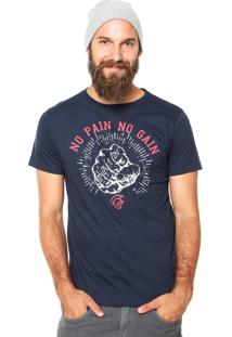 Camiseta Pretorian No Pain No Gain Azul Marinho