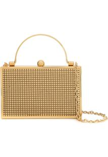 Whiting And Davis Clutch Com Tachas - Dourado