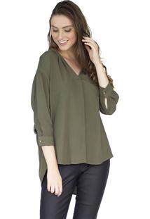 Camisa The Style Box Detalhe Trançado - Verde Militar
