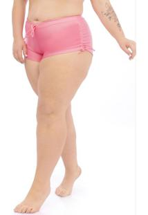 Calcinha Shorts Plus Size Coral