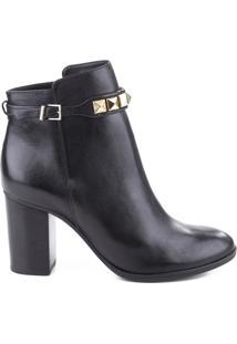 Bota Block Heel Studded Strap Black | Schutz
