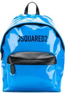 Dsquared2 Mochila Com Contraste - Azul
