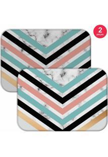 Jogo Americano Love Decor Geometric Marble Colorido - Kanui