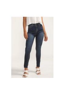 Calça Jeans Hering Super Skinny Estonada Azul