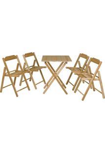 Conjunto Mesa E 4 Cadeiras Tramontina Beer 10630066 Dobrável