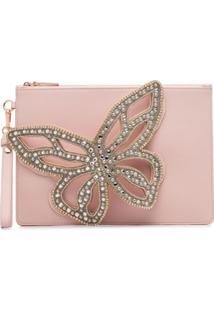 Sophia Webster Flossy Butterfly Clutch Bag - Rosa