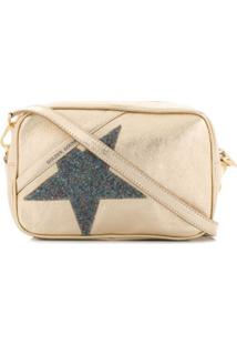 Golden Goose Glitter Star Patch Shoulder Bag - Dourado