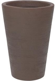 Vaso Em Polietileno Cone Terra 38X55Cm Rusty