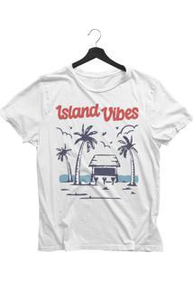 Camiseta Jay Jay Básica Island Vibes Branca Dtg