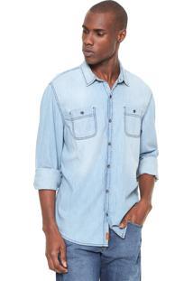 Camisa Jeans Hering Estonada Azul