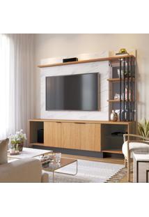 Painel Home Para Tv Colibri Vivace Com Cristaleira 3 Nichos