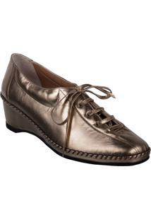 Sapato Feminino Marinucci 660 Prata Velho