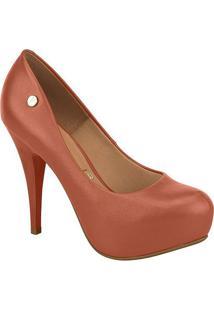 Sapato Meia Pata Com Tag- Marrom- Salto: 11,5Cm-Vizzano