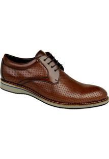 Sapato Casual Constantino Oxford Furinhos Masculino - Masculino-Marrom