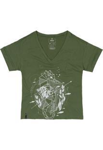 T-Shirt Nã¶Gah Cavalo Marinho Verde - Verde - Feminino - Algodã£O - Dafiti