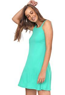 Vestido Fiveblu Curto Canelado Verde