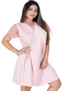 Robe Feminino All Store Harmonia Rosa