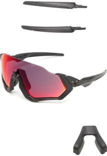 Óculos De Sol Oakley Flight Jacket Preto/Vermelho