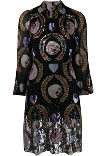 Temperley London Vestido Com Aplicação De Paetês - Preto