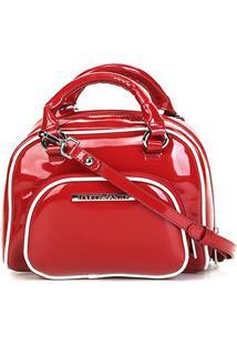 Bolsa Loucos & Santos Mini Bag Verniz Feminina - Feminino-Vermelho