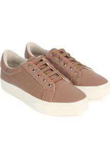 Tênis Dali Shoes Básico Cadarço Feminino - Feminino-Marrom