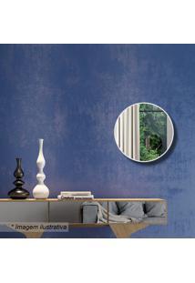 Painel Decorativo- Espelhado & Off White- Ø30X3Cmdalla Costa
