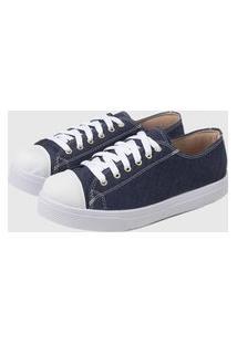 Tênis Casual Sapatenis Confort Jeans Escuro