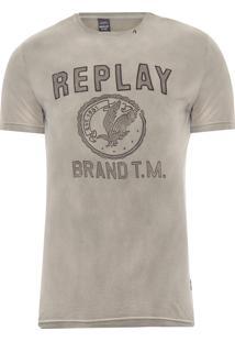Camiseta Masculina Brand - Cinza