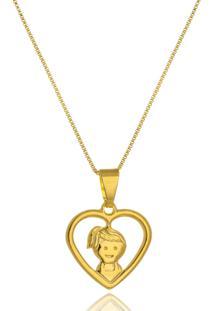 Colar Le Diamond Coração Vazado Menina - Kanui