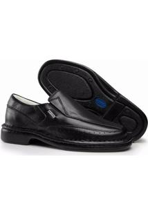 Sapato 3Ls3 Relax Couro Pelica - Masculino-Preto
