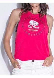 Regata Labellamafia Santorini By The Beach Feminina - Feminino-Pink+Branco