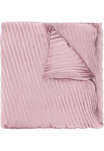 Emporio Armani Echarpe Plissado - Rosa