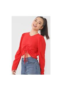 Blusa Colcci Amarração Vermelha